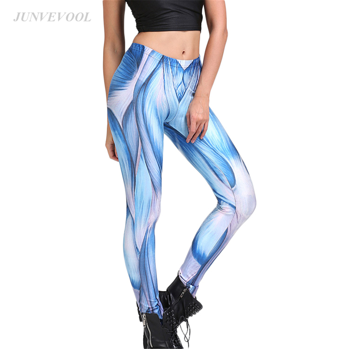 Elastic Women Leggings Muscle Gothic 2017 Leggings Fitness Novelty Sportswear Pencil Pants Sexy Femme Bodycon Workout Leggins