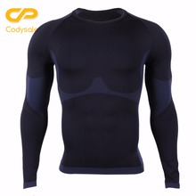 Codysale Cheap Compression T-shirts for Men Fitness Long Sleeve Shirt Quick Dry Workout Sweatshirt US Size Wholesale Tops Tee(China)