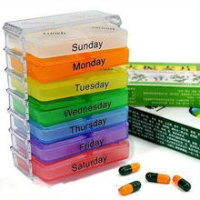 Useful Medicine Weekly Storage Pill 7 Day Tablet Sorter Box Container Case Organizer Health Care Pill Box Colorful