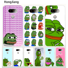 HongJiang Internet Meme Smug Frog Pepe case phone cover for LG G6 G5 K10 K7 K4 magna Spirit(China)
