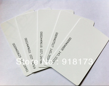 200pcs/lot TK4100 4102 /EM 4100 blank card Thin pvc ID Card RFID 125KHz Smart Card Chips with 18 inner codes(China)