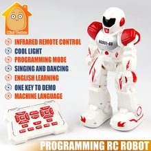 Minitudou Multifunctional Remote Control Robot Singing Dancing Robot With Music Light RC Toys Action Figures Gift For Boys Girls(China)