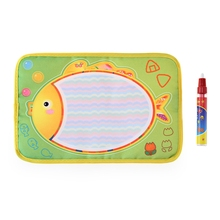 New Hot Sale 19*29cm Colorful Fish design Water Doodle Drawing Board Baby Play Water Mat Toys With Magic Pen