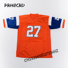 Retro star #27 Steve Atwater Embroidered Throwback Football Jersey(China)