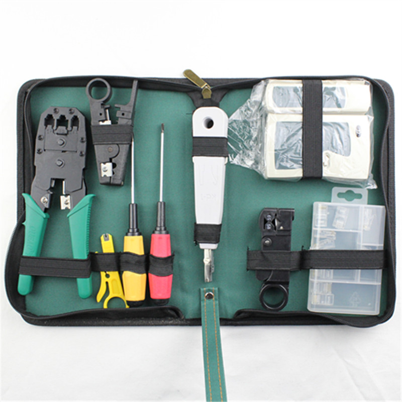 WLXY 11-in-1 Telecommunications Maintenance Diagnostic Tools Set, NS-468 Cable Tester 3 Way Crimper Tool, Cable Stripper<br>