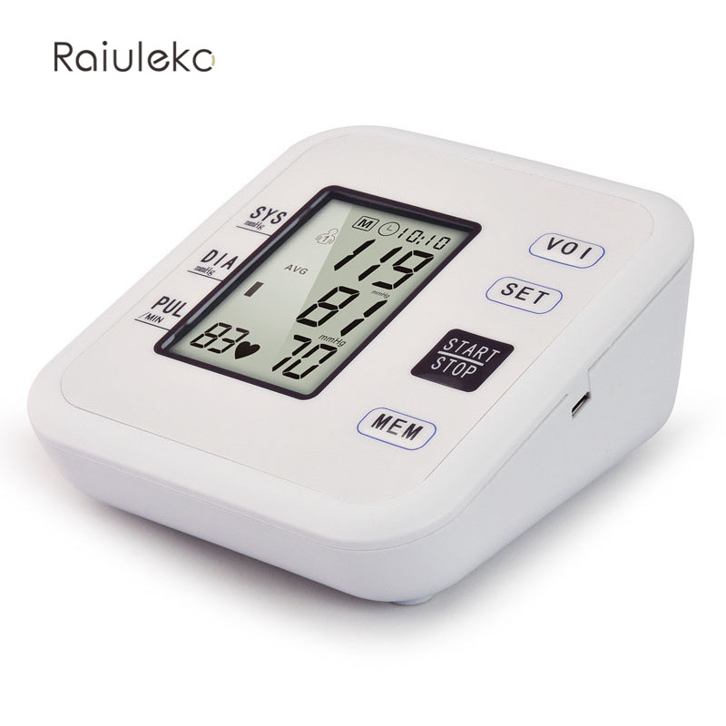 New Free Shipping Household Health Pressure Pulse Blood Pressure Monitor Digital Portable Hypertension oximeter Sphygmomanometer 9