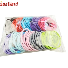 SunWard 1PC Baby girl children hair band hair accessory black plus velvet hair rope colorful headband mix candy color  17M07
