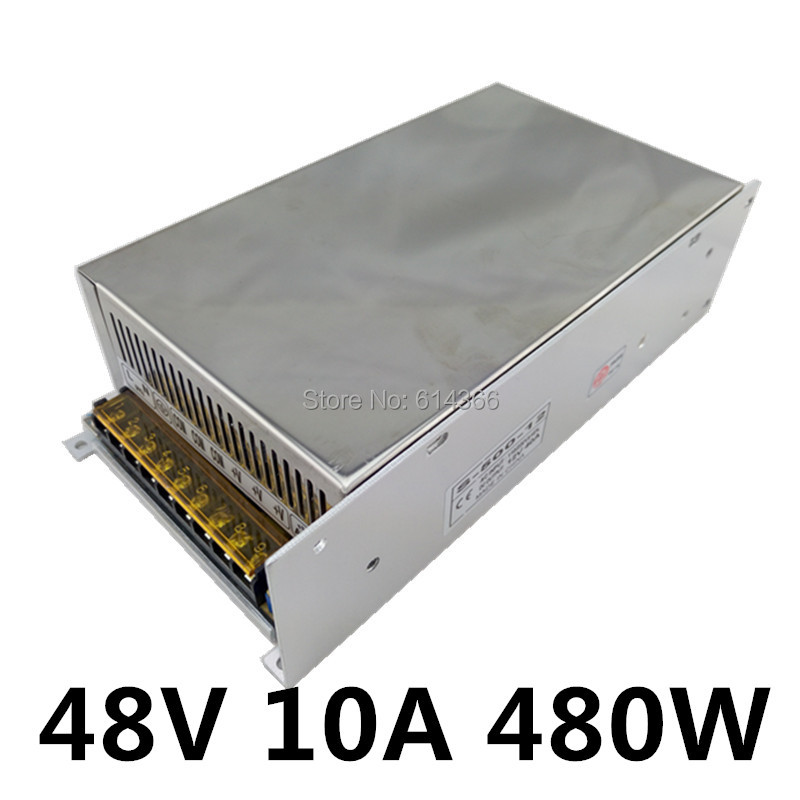 New Arrival 48V 10A 480W Switching Power Supply Driver for LED Strip AC 100-240V Input to DC 48V<br>
