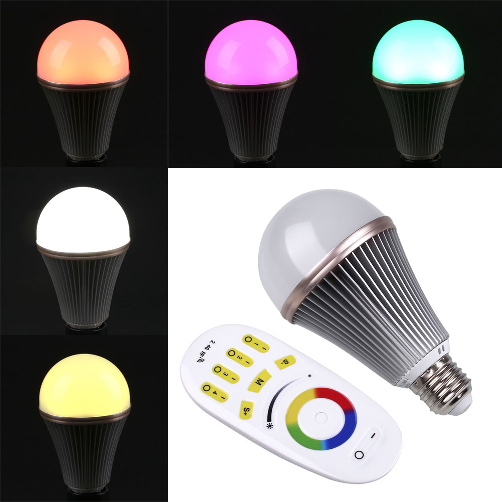 9W RGBW RGB LED Bulbs With Touch Support Controllers Bright Home Light Lamp<br><br>Aliexpress