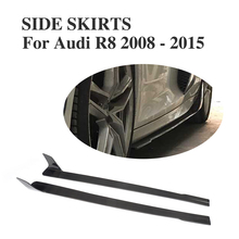 Carbon Fiber Car Side Skirts Aprons Extensions For Audi R8 Coupe Convertible 2-Door 2008-2015 Car-stylig(China)