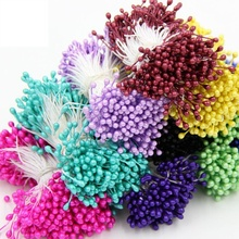 Artificial Flower Double Heads Stamen Pearlized Craft Cards Cakes Decor Floral for Home Wedding Party Decor 300pcs Hot