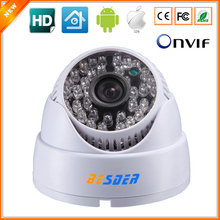 HD 1280*720P 1.0MP Indoor Dome IP Camera Security CCTV Surveillance ONVIF 2.0 P2P IP Cam WIDE ANGLE 2.8mm Megapixel Lens 48LED(China)