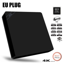 Original Beelink i68 Android 6.0 TV Box Amlogic S912 Octa Core 64Bit 2G/16G BT4.0 LAN Dual Band Wifi Lan Mini PC Media Player