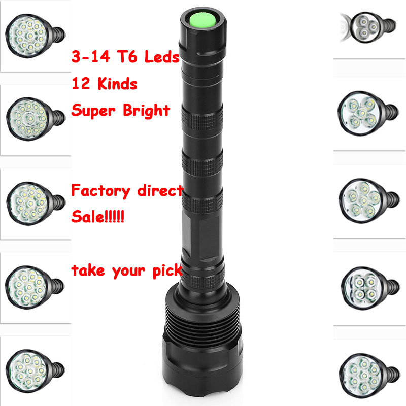 20000LM XML T6 LED Lampe Flashlight Zoom In//Out 18650 Metal Torch Camping Light