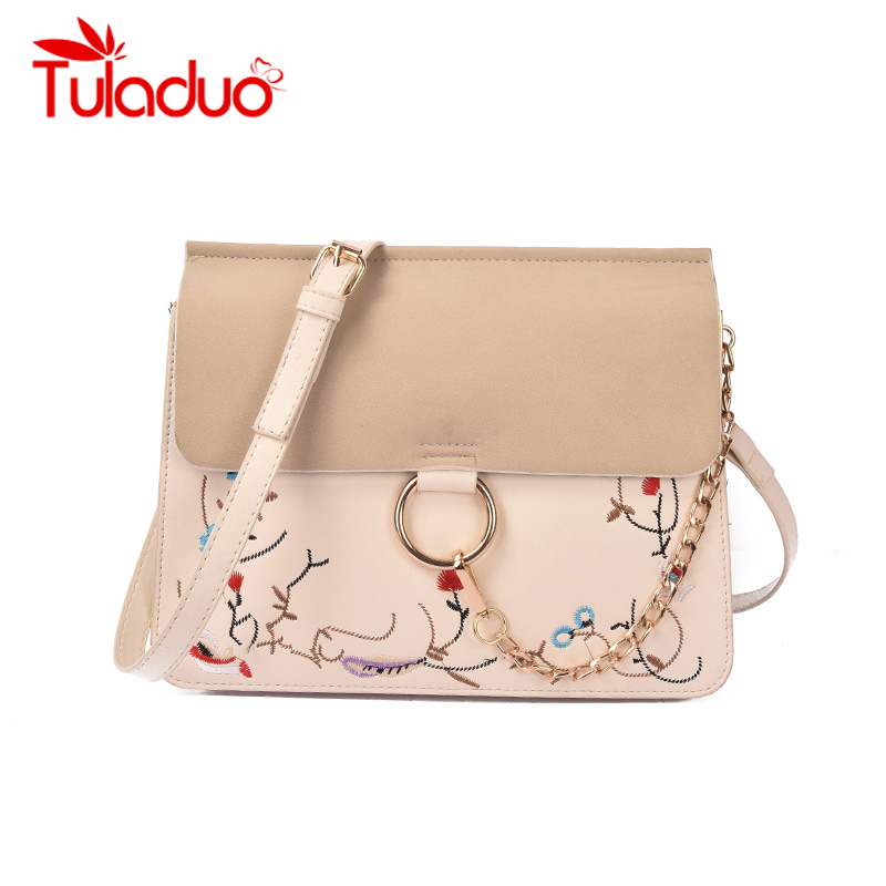 TuLaduo High Quality Designer Flap Cover Bags Embroidery Womens Handbags Ladies Messenger Bags Chains Totes Female Handbag<br><br>Aliexpress
