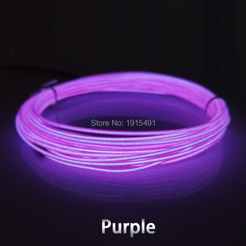 Car Internal Decor Super Bright 10 Color Choice 1.3mm 10Meters With 5V USB Driver EL Wire Rope Led Strip Flexible Neon Light<br><br>Aliexpress