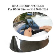 HM Style Carbon Fiber Rear Roof Window Spoiler Wing For BMW F10 528i 535i 2010-2016 Car Accessories