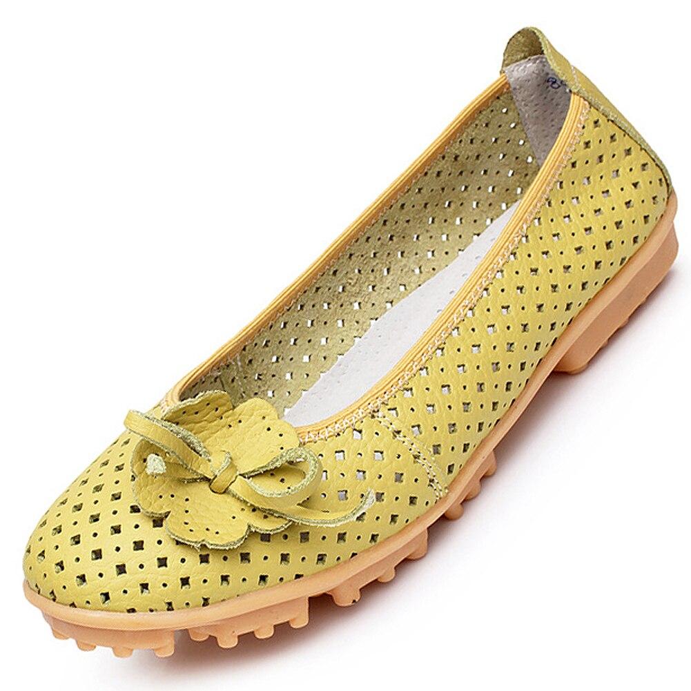AUAU New 2016Women genuine Leather Flats Shoes Cut Outs Ballet Women Flats Comfort Shoes Woman Moccasins<br><br>Aliexpress