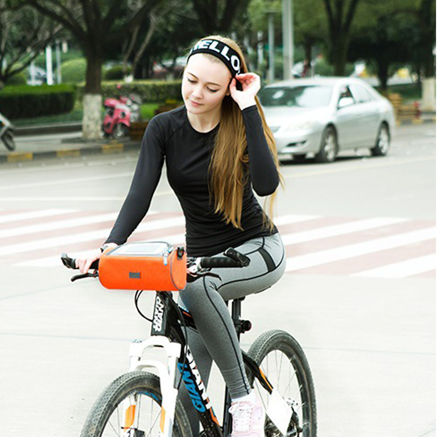 Bike Frame Bag Front Tube Bag Handlebar Bag Bicycle Bag with Touchscreen U4E8