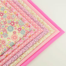 New Arrivals Mix 7 Pieces/lot Plain Cotton Fabric Fat Quarters Bundle for Dolls Patchwork Pink Color Scrapbooking Sewing Toys