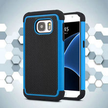 For Samsung Galaxy S7 G9300 Armor Case Football Pattern Rubber Hybrid Heavy Duty ballistic Impact Rugged Shockproof Case Cover(China)