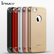 iPaky for iPhone 5S SE Case Cover Hard PC 3 in 1 Hybrid Back Cover for iPhone 5S SE Case Plating Frame Protective Shield Shell(China)
