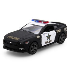 New Hot Sale KiNSMART 1:38 Ford 2006 Mustang GT Police Alloy Diecast Model Car Vehicle Toy Collection Gift For Boy Children Toys
