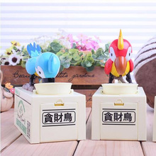 New Arrival Parrot Piggy Bank Funny Box Antistress Interesting Gift Money Saving Fun Box Kid Friend Steal Coins Funny Toy(China)