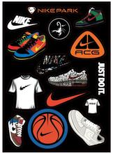 Hot sell brand names shoes pattern PVC waterproof laptop stickers For Diy tablet macbook pro Phone sticker