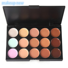 1pc 10*15cm Natural Professional Concealer Palette 15 Colors makeup Foundation Facial Face Cream Palettes Cosmetic make up color