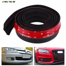 2.5M Front Bumper Rubber Protector Lip Splitter Body Spoiler Universal Car styling Multi deflector Car Rubber Strip 60mm Width(China)