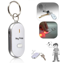Sound Whistle Control LED Key Finder Locator Find Lost Unisex Keychain Plasic Keys Chains New 4 Colour