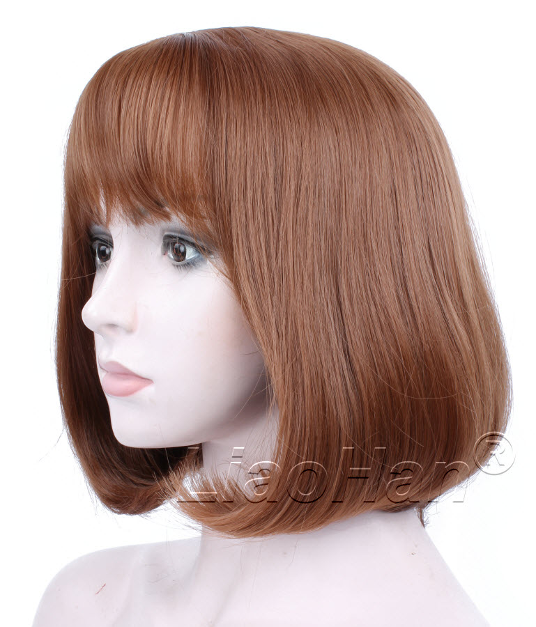 Fashion Brown Short Wig Short Brown Bob Wig with Fringe Bang Short Brown Hair Wigs for Women<br><br>Aliexpress