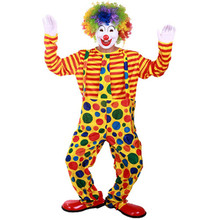 Free Shipping (NO.GQ 370g) Adult Halloween costumes clowns clown wearing suits, magic clothing, stage clothing(China)