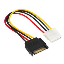 1pcs 15pin 15P Sata Serial ATA Male to Molex IDE 4 Pin Female M-F Hard Drive Adapter Power Cable Line Power