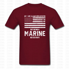 Marine Corps U.S. United States Marines USMC Military T Shirt Men Women Cotton O Neck Short Sleeve Tshirt Letter Brand Clothing