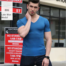 Compression T-Shirt Men Brand Solid T-shirts Short Sleeve Cosplay Fitness Body Building Male Crossfit Tops Simple Plain Lakeblue