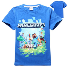 Buy 9Cartoon T Shirt Kids Summer Children Tops 100% Cotton Tee Baby Minecraft Print T-shirts Boys Clothing Girls Clothes for $4.66 in AliExpress store
