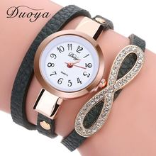 2017 New Duoya Fashion Watch Women Dress Casual Ladies Watch Wrist Watch For Women Bracelet Vintage Crystal Clock Watch