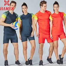 2017 new women short sleeve Volleyball sets lady Volleyball suits girls sports kits female training suits customized name numbe(China)