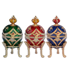 Free shipping crown faberge egg jewelry box trinket boxes faberge eggs vintage home decor Christmas birthday gifts decoration