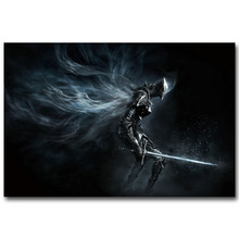 Dark Souls 1 2 3 Poster Necromancer Armor Sword Art Silk Fabric Print 13x20 24x36inch Hot Game Pictures for Room Wall Decoration(China)