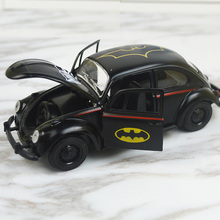 HOT 1:36 Pull Back Car Toys Beetle Classic Alloy Diecast Car Model Toy Cartoon Vehicle Batman Toy cars For Children Baby kids(China)