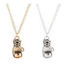 Fine Quality Men Women Stainless Steel Boxing Glove Pendant Necklace Chain New