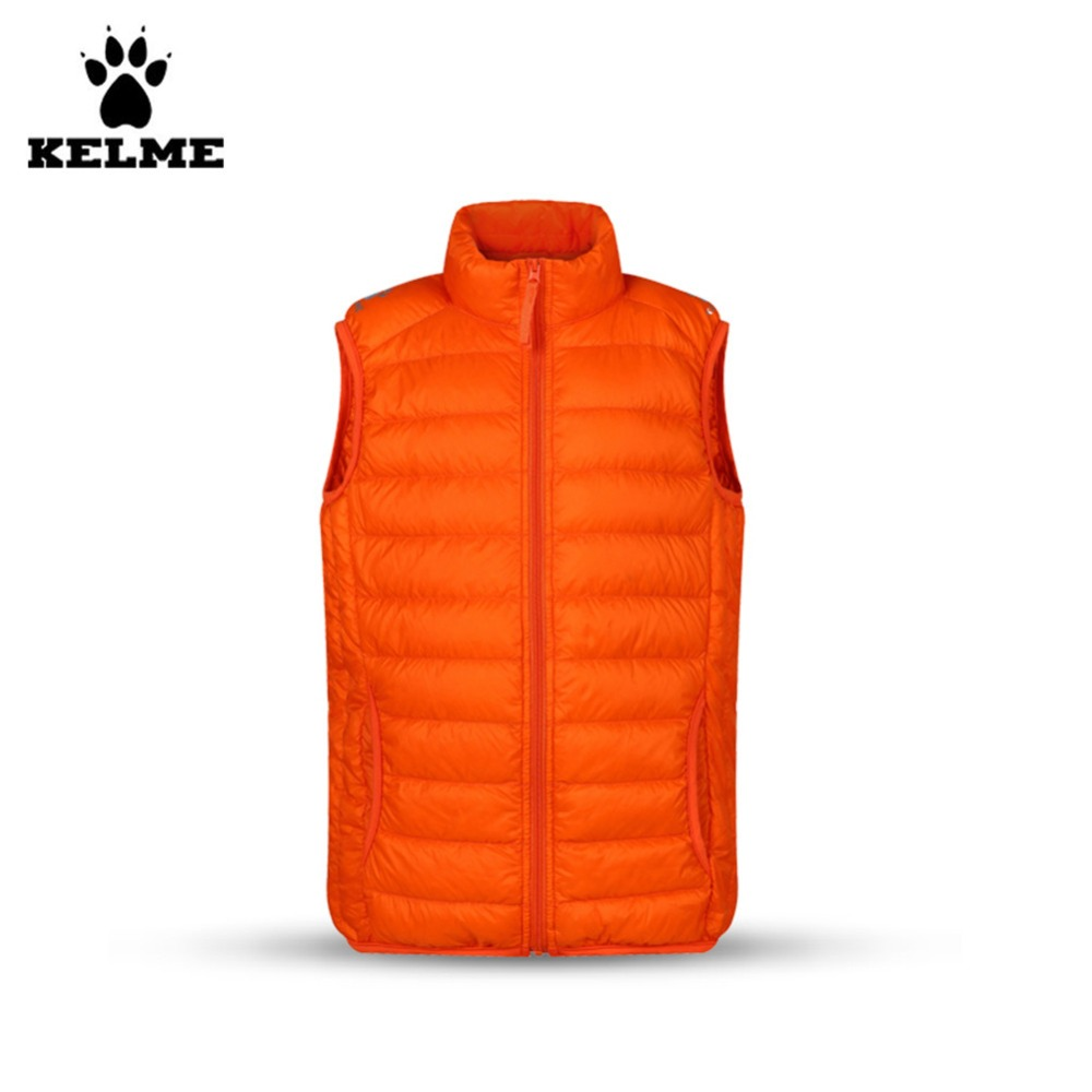 Kelme Children Stand Collar Down Vest K15P004 Orange<br><br>Aliexpress