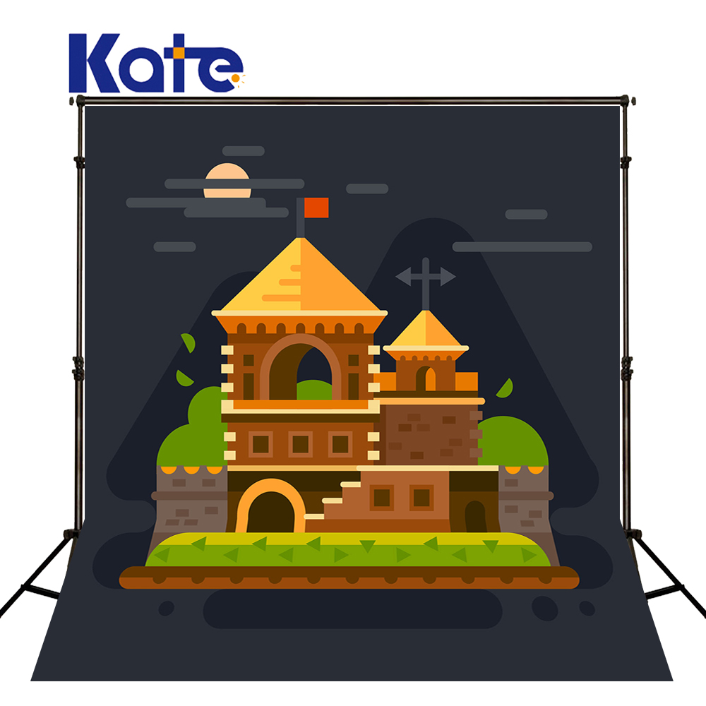 KATE Photography Backdrops Castle Photography Backdrop Cartoon Castle Background Photography Backdrop For Newborn Shoot<br>