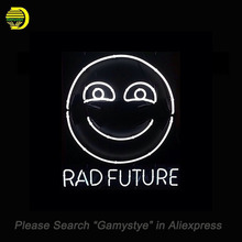 Neon Sign For Grunge sweet chill smiley face rad Pub Recreation Room neon Windows lights for sale custom Brand LOGO Handmade(China)