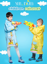 100% Original Cartoonraincoat Unisex Kids Rain Coat Waterproof Impermeable Baby boy Lovely Rain Suit Kids Regenjas Cheap Sale