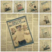 Multiple awards The Dallas Buyers Club Kraft Paper Poster Office Gift Room Dining Home Decor wall sticker Design