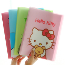 Z36 Kawaii 10 Pockets Totoro Hello Kitty A4 Document File Bag Paper Storage Holder for Papers Stationery Kids Gift